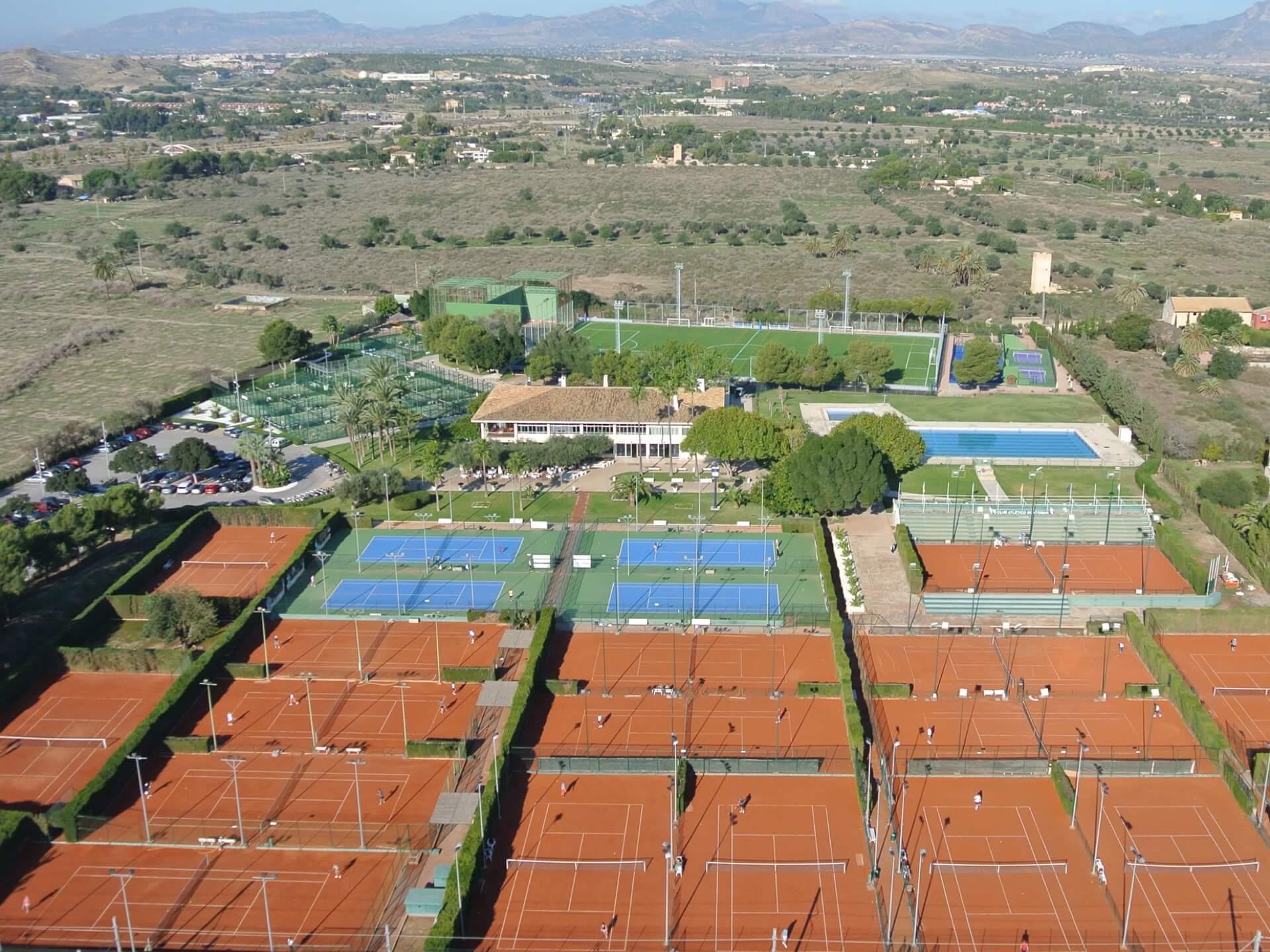 Foto aérea tenis Alicante