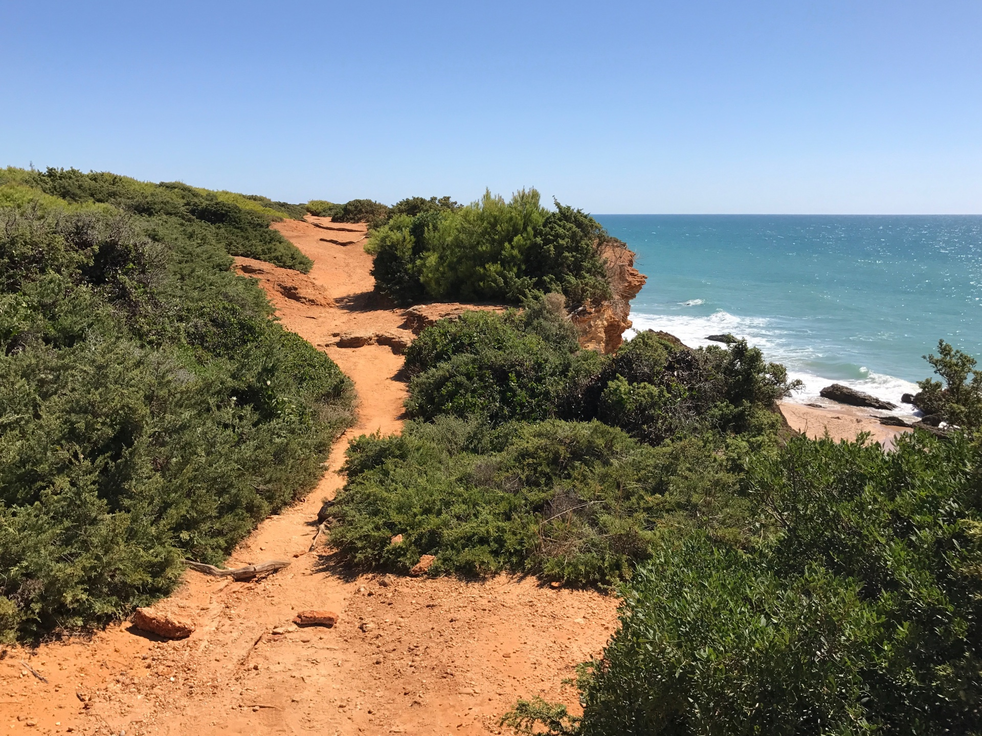 Chiclana trail along sea